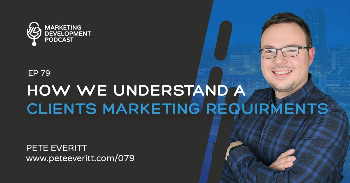 079 – How we understand our clients marketing requirements
