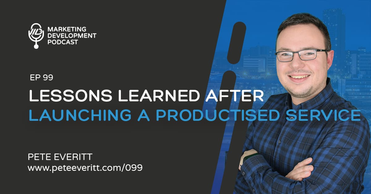 099 – Lesson learned from launching a productised service